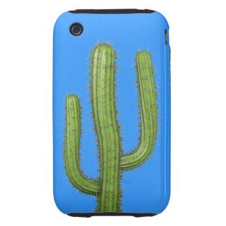 3d Wild West Cactus (editable) Tough iPhone 3 Cases