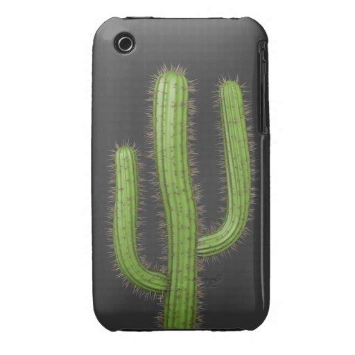3d Wild West Cactus (editable) iPhone 3 Case-Mate Case