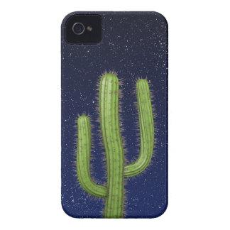 3d Wild West Cactus Starry Sky (editable) Case-Mate iPhone 4 Cases