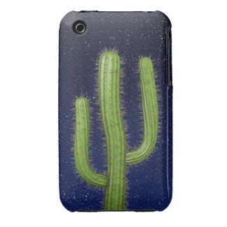 3d Wild West Cactus Starry Sky (editable) iPhone 3 Cover