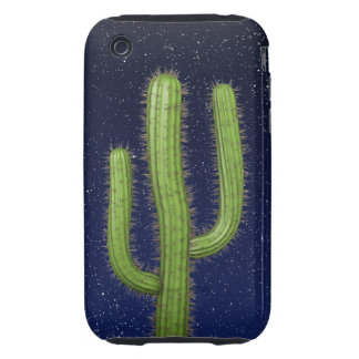 3d Wild West Cactus Starry Sky (editable) iPhone 3 Tough Cases