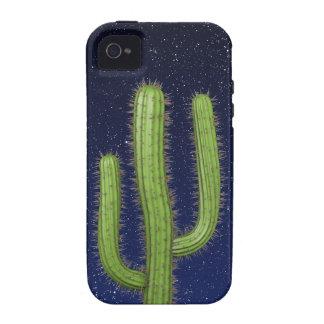 3d Wild West Cactus Starry Sky (editable) iPhone 4/4S Cases
