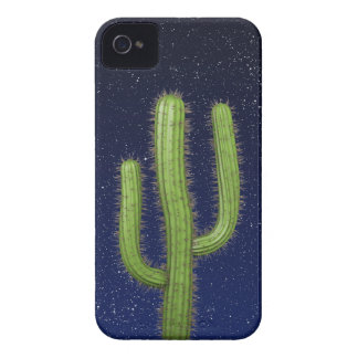 3d Wild West Cactus Starry Sky (editable) Case-Mate iPhone 4 Case