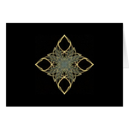 3D Wire Look Gold Diamond with Blue Center Cards