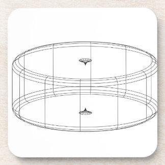 3d wireframe render object drink coaster