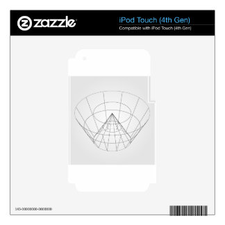3d wireframe render object iPod touch 4G skins
