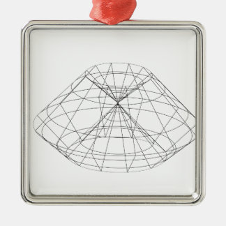 3d wireframe render object metal ornament