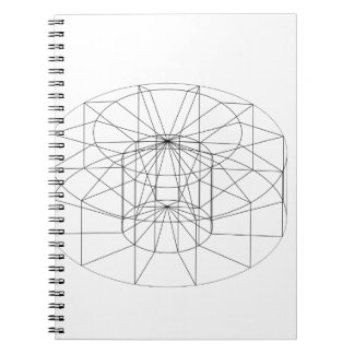 3d wireframe render object notebook