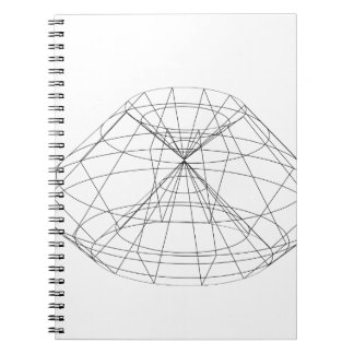 3d wireframe render object spiral notebook