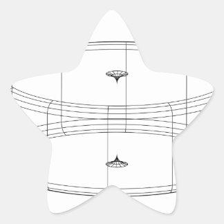 3d wireframe render object star sticker