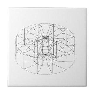 3d wireframe render object tile