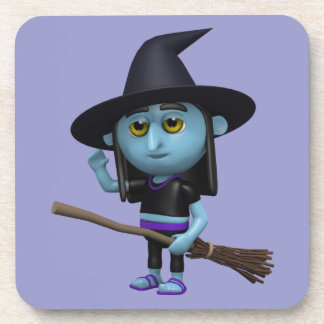 3d Witch Waves Hello (Any Color U Like!) Drink Coaster