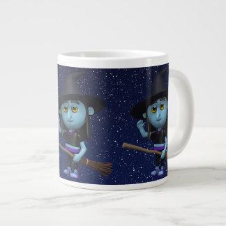 3d Witch Waves Hello Large Coffee Mug