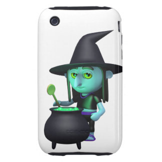 3d Witches Cauldron (Any Color U Like!) iPhone 3 Tough Case