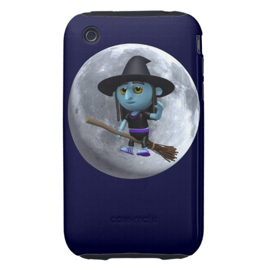 3d Witches moon iPhone 3 Tough Case