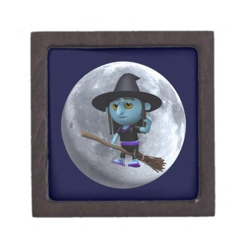 3d Witches moon Premium Jewelry Box