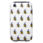 3d Wizard Bee (editable background!) Tough iPhone 3 Cover