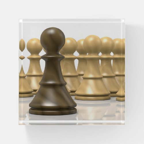 3D wood chess pawns Paperweight