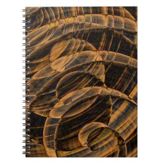 3D Wood Swirl Spiral Notebook