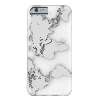 3D World map, computer generated image Barely There iPhone 6 Case