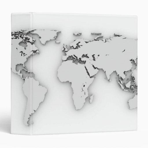 3D World map, computer generated image Binder