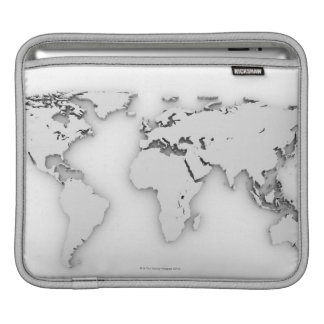 3D World map, computer generated image iPad Sleeve