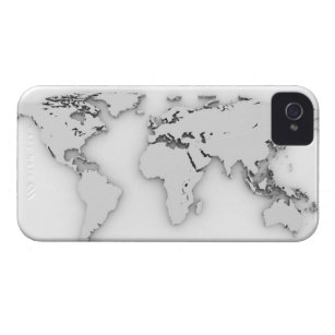 World map background iphone 4 cases zazzle 3d world map computer generated image iphone 4 case gumiabroncs Choice Image
