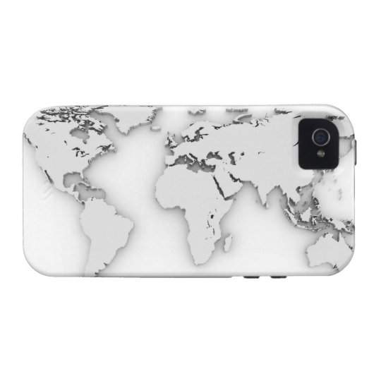 3D World map, computer generated image iPhone 4 Cover