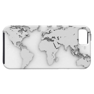 3D World map, computer generated image iPhone SE/5/5s Case