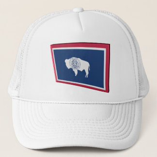 3D Wyoming State Flag Trucker Hat