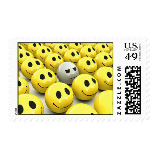 3d Yellow Smileys March Stamp