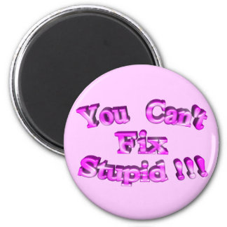 3D You Can't Fix Stupid !!! Magnet