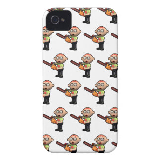 3d zombie with bloody chainsaw Case-Mate iPhone 4 case