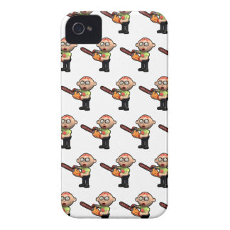 3d zombie with bloody chainsaw iPhone 4 case