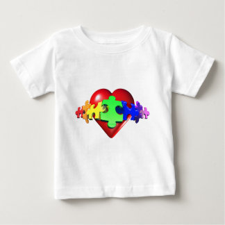 3DHeartPuzzle Baby T-Shirt