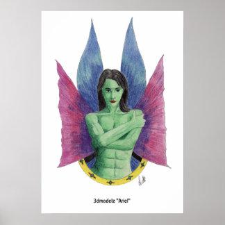 """3dmodelz """"Ariel"""" Poster"""