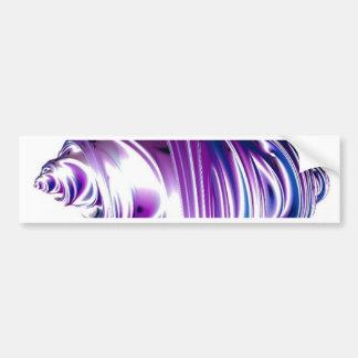 3DObject,purple Car Bumper Sticker