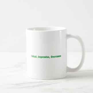 3D's - adapt, improvise, overcome Classic White Coffee Mug