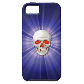 3DSkull - Angel of Death with Blue Halo iPhone SE/5/5s Case