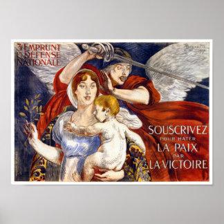 3e Emprunt de la Défense Nationale Vintage Poster