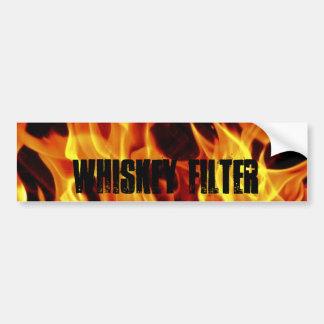 3flames, Whiskey Filter Bumper Sticker