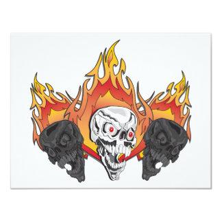 3flaming skulls copy card