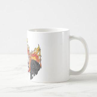 3flaming skulls copy classic white coffee mug