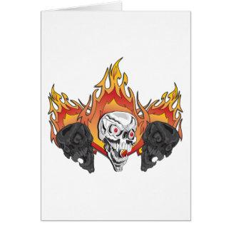 3flaming skulls copy greeting card