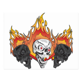 3flaming skulls copy postcard