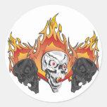 3flaming skulls copy sticker