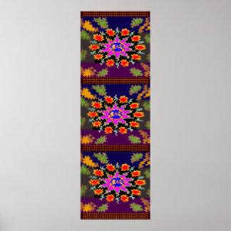 3ft x 1ft Flower Garden  : Oriental Chinese Poster