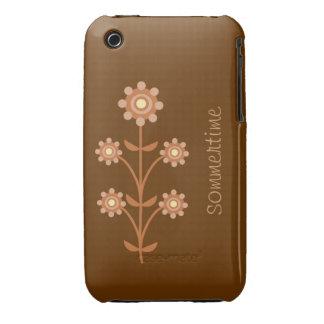 3g 3gs iPhone hülle en marrón con blume