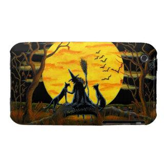 3G/3GS, phone case,Halloween,witch,bats,black,cats iPhone 3 Case-Mate Case