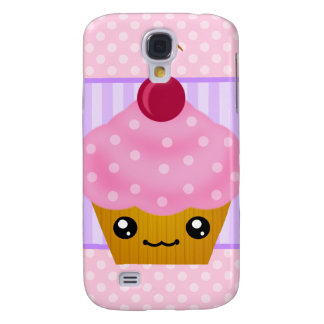 3G Kawaii Cupcake Cherry  Galaxy S4 Case